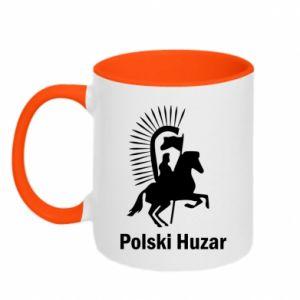 Kubek dwukolorowy Polski huzar