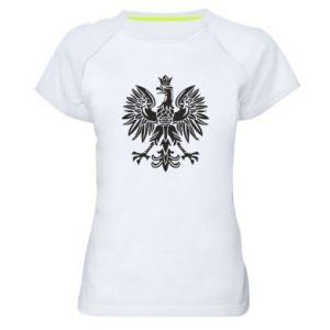 Damska koszulka sportowa Polski orzeł - PrintSalon