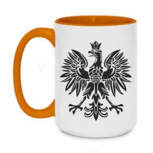 Two-toned mug 450ml Polish eagle