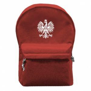 Plecak z przednią kieszenią Polski orzeł - PrintSalon