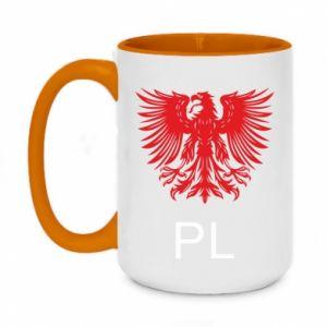 Two-toned mug 450ml Polski orzeł