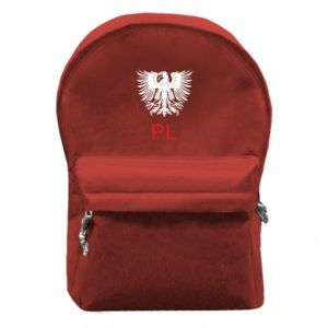 Backpack with front pocket Polski orzeł