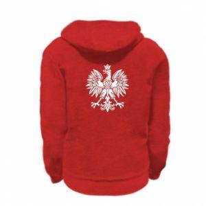 Kid's zipped hoodie % print% Polish eagle