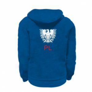 Kid's zipped hoodie % print% Polski orzeł