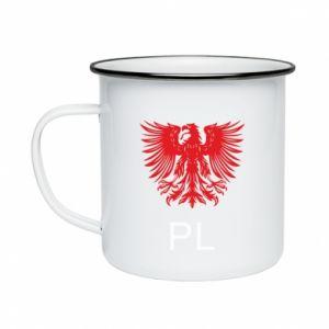 Kubek emaliowany Polski orzeł