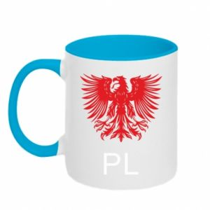 Kubek dwukolorowy Polski orzeł - PrintSalon