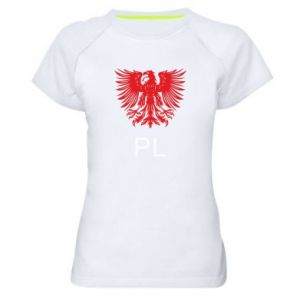 Women's sports t-shirt Polski orzeł