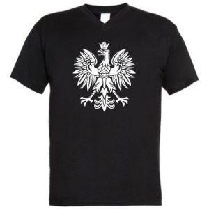 Męska koszulka V-neck Polski orzeł - PrintSalon