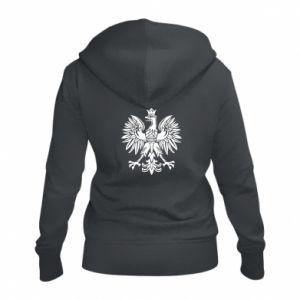 Damska bluza na zamek Polski orzeł - PrintSalon