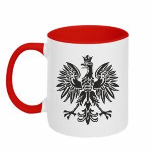 Two-toned mug Polish eagle