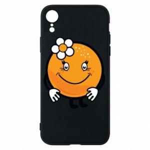 Phone case for iPhone XR Orange, for girls - PrintSalon