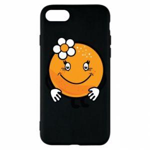 Etui na iPhone SE 2020 Pomarańcza, dla dziewczynki