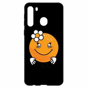 Etui na Samsung A21 Pomarańcza, dla dziewczynki