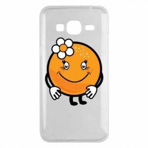Phone case for Samsung J3 2016 Orange, for girls - PrintSalon