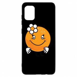 Etui na Samsung A31 Pomarańcza, dla dziewczynki
