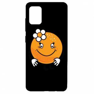 Etui na Samsung A51 Pomarańcza, dla dziewczynki
