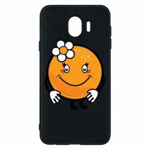 Phone case for Samsung J4 Orange, for girls - PrintSalon