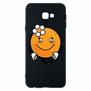 Phone case for Samsung J4 Plus 2018 Orange, for girls - PrintSalon