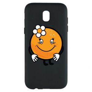 Phone case for Samsung J5 2017 Orange, for girls - PrintSalon