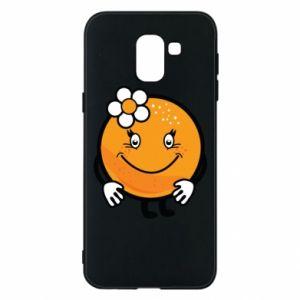 Phone case for Samsung J6 Orange, for girls - PrintSalon