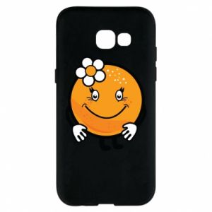 Phone case for Samsung A5 2017 Orange, for girls - PrintSalon