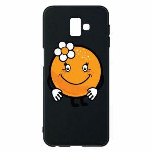 Phone case for Samsung J6 Plus 2018 Orange, for girls - PrintSalon