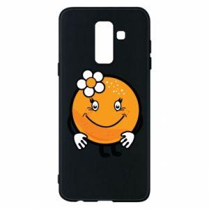 Phone case for Samsung A6+ 2018 Orange, for girls - PrintSalon