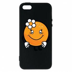Phone case for iPhone 5/5S/SE Orange, for girls - PrintSalon