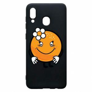 Phone case for Samsung A20 Orange, for girls - PrintSalon