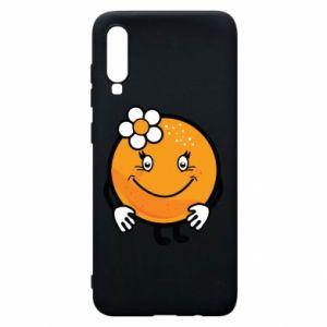 Phone case for Samsung A70 Orange, for girls - PrintSalon