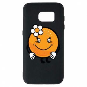 Phone case for Samsung S7 Orange, for girls - PrintSalon