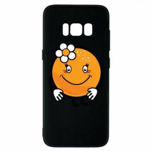 Phone case for Samsung S8 Orange, for girls - PrintSalon