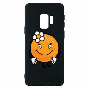 Phone case for Samsung S9 Orange, for girls - PrintSalon