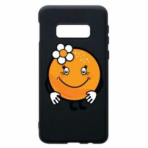 Phone case for Samsung S10e Orange, for girls - PrintSalon