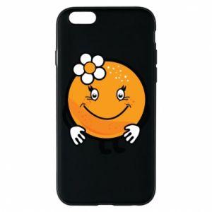 Phone case for iPhone 6/6S Orange, for girls - PrintSalon