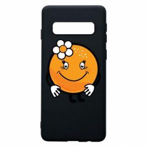 Phone case for Samsung S10 Orange, for girls - PrintSalon
