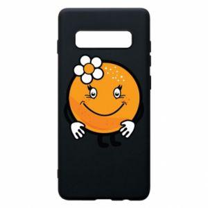 Phone case for Samsung S10+ Orange, for girls - PrintSalon