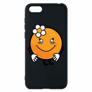 Phone case for Huawei Y5 2018 Orange, for girls - PrintSalon