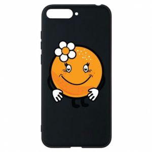 Phone case for Huawei Y6 2018 Orange, for girls - PrintSalon