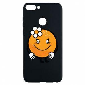 Phone case for Huawei P Smart Orange, for girls - PrintSalon