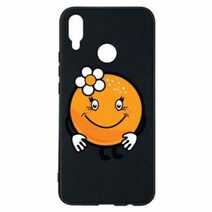 Phone case for Huawei P Smart Plus Orange, for girls - PrintSalon