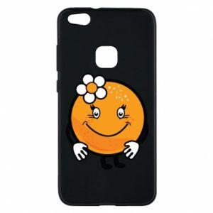 Phone case for Huawei P10 Lite Orange, for girls - PrintSalon