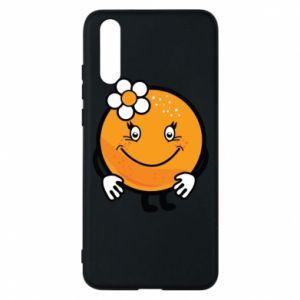 Phone case for Huawei P20 Orange, for girls - PrintSalon