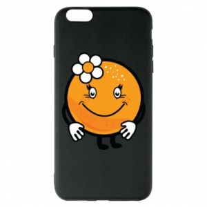 Phone case for iPhone 6 Plus/6S Plus Orange, for girls - PrintSalon