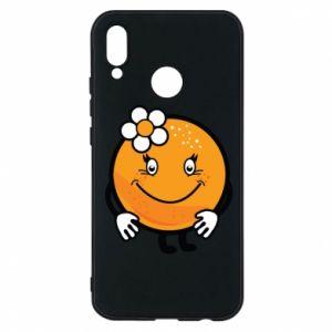 Phone case for Huawei P20 Lite Orange, for girls - PrintSalon