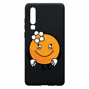 Phone case for Huawei P30 Orange, for girls - PrintSalon