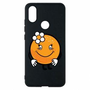 Phone case for Xiaomi Mi A2 Orange, for girls - PrintSalon