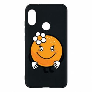 Phone case for Mi A2 Lite Orange, for girls - PrintSalon