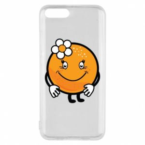 Phone case for Xiaomi Mi6 Orange, for girls - PrintSalon