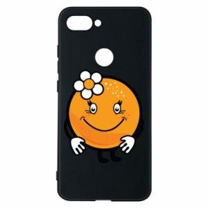 Phone case for Xiaomi Mi8 Lite Orange, for girls - PrintSalon